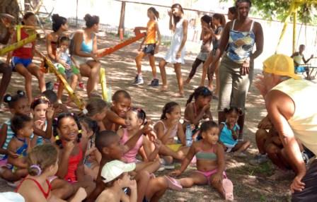 The kids of Cojimar enjoy their summer's end.