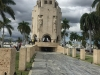 On the outside of the Jose Marti mausoleum.