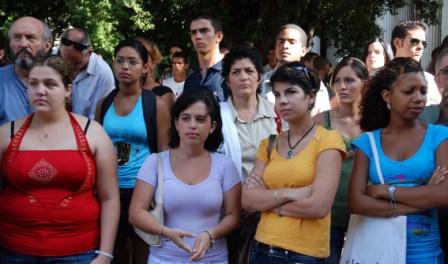 Cuban University Students and Professors.  Photo: Caridad