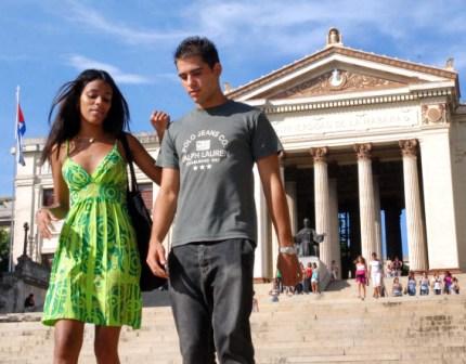 Students at the University of Havana.  Photo: Caridad