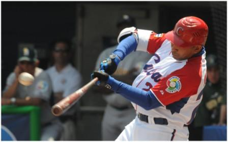 Frederich Cepeda was Cuba's top hitter in the WBC tournament