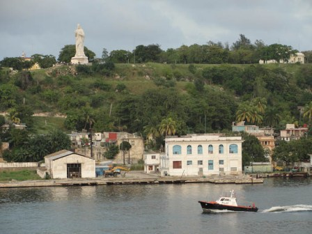 Havana Bay with the town of Regla in the background.