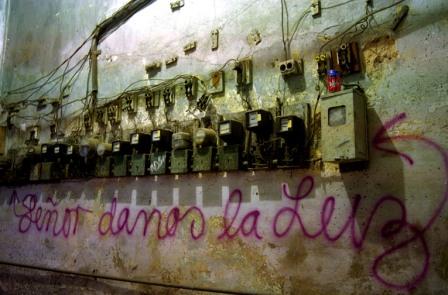 Graffiti Against Blackouts. Photo by AngelYu