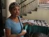 Elvira Reinaldo giving a handicrafts workshop.
