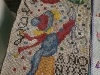 Embroidery with jute, cotton and other materials.