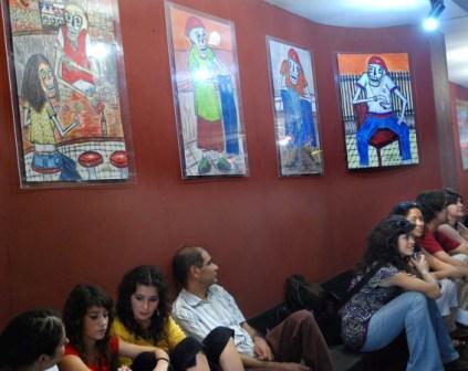 Paintings by Edurado Zarza Guirola at the La Rampa Cinema