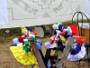 """Local handicrafts, including embroideries and hand-made dolls, are sold along the way to the """"mirador""""."""