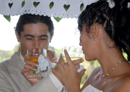 Renier and Yordanka getting married.  Photo: Caridad