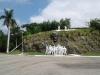 Conjunto escultorico de La Colina Lenin, panoramico