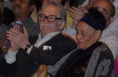 Gabriel Garcia Marquez and Omara Portuondo