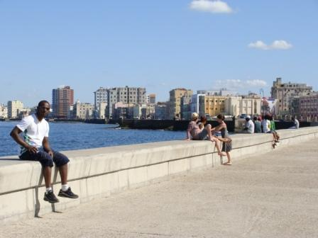 Havana's Malecon Seawall ( photo by Ana Maria Gonzalez )