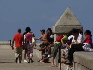 Cuba's Malecon Seawall that looks out towards the USA. Photo:Ana Maria Gonzalez