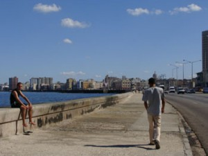Scene on the Malecon seawall, photo by Ana Maria Gonzalez