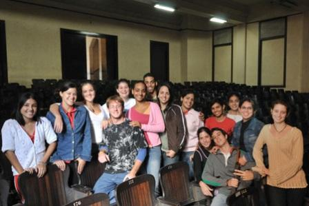 Second year Biology majors. Their English class is held in the auditorium of the Faculty of Biology.
