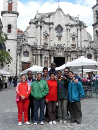 Tania's Students at the Old Havana Cathedral