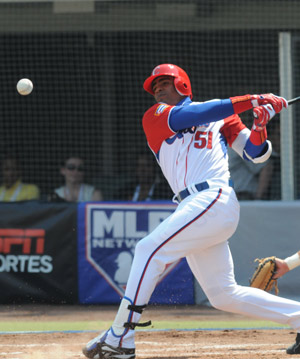 Yoennis Cespedes, 22, hit .458, and like fellow outfielder Cepeda, was selected for the 2009 WBC All-Star squad.--Photo: Jose Luis Anaya