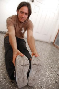 In the end the shoes ended up lasting three weeks. Photo: Caridad