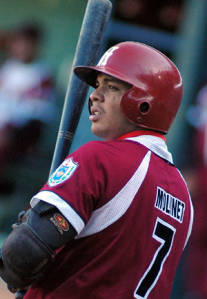 Habana Province Second Baseman Ernesto Molinet had seven RBIs on two homers, including a grand slam, and a double.
