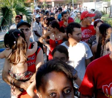 Waiting in line at Havana's Coppelia Ice Cream Parlor.