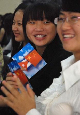 Chinese students study Spanish in Havana.