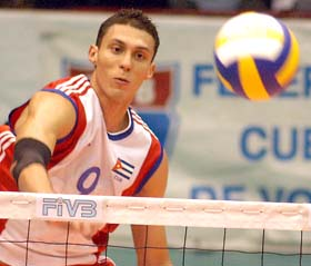 Maikel Sanchez is back playing volleyball.