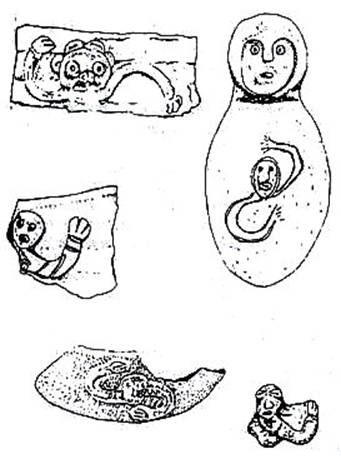 Pre-Columbian Cubans depicted the hurricane.