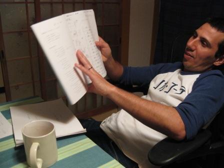 Doing my Japanese homework