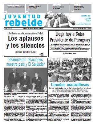 Cuba's Juventud Rebelde daily newspaper