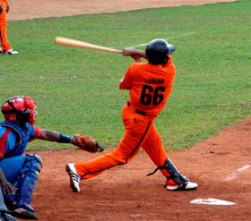 Ramon Lunar singled home the winning run for Villa Clara in the bottom of the tenth.