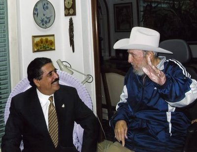 Manuel Zelaya and Fidel Castro during the last visit of the ousted Honduran President to Cuba, Photo: Presidency of Honduras