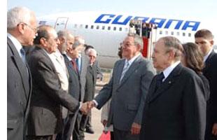 Raul Castro arrives in Algeria, photo: Cuban News Agency