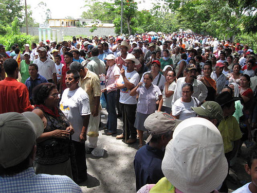Trade unionists in Honduras protest coup, photo: International Transport Workers' Federation
