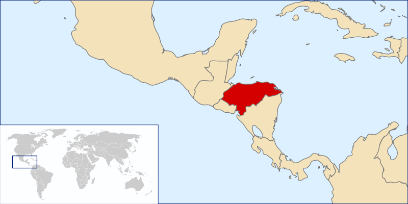 We know that Honduran soil was used on more than one occasion as a base to attack Cuba. Map by Wikimedia Commons