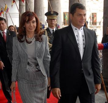 Presidents Cristina Kirchner (Argentina) and Rafael Correa (Ecuador) plan to accompany Zelaya back to Honduras. Photo: Presidency of Ecuador