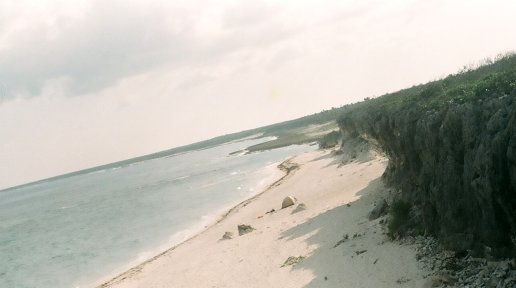 Perjuicio Beach from above.