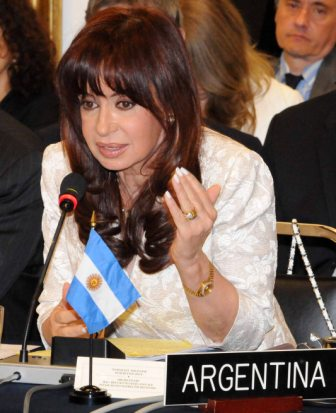 Cristina Fernandez Kirchner, President of Argentina, photo: Patricia Leiva - GS/OAS
