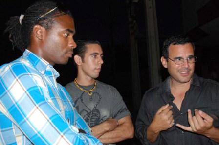 David Diaz, Wismer Torres and Alain Michel of the Cuban band Quantum