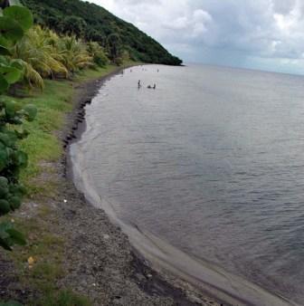 Black sand beach on Cuba's Isle of Youth. Photo: Caridad