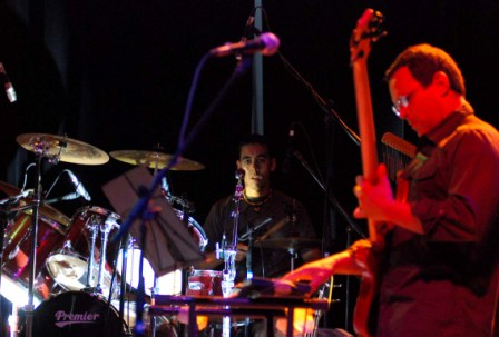 Wismer Torres and Alain Michel of the Cuban band Quantum