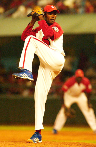 Yaumier Sanchez had control problems but only allowed one hit in seven innings.