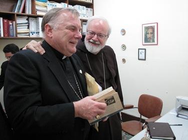 Bishop Thomas Wenski of Orlando, Florida (left) and Cardinal Sean O'Malley of the Catholic Church in Boston (right), photo: cardinalseansblog.org