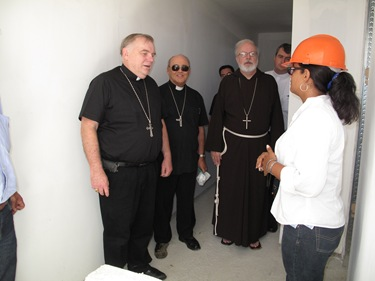 The US Catholic delegation visited the costruction site of a new seminary in Havana, photo: cardinalseansblog.org