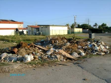 Garbage heap alongside the Havana suburb of Cojimar.
