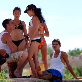 Young Cubans at one of Cuba's excellent beaches.