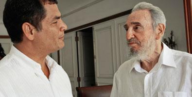Rafael Correa visits Fidel Castro in Havana