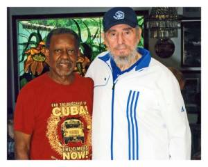 Rev. Lucius Walker with Fidel Castro in early August.