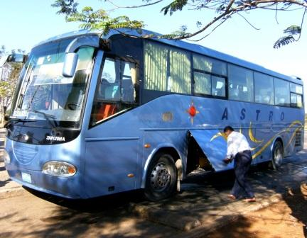 One of the Yutong Chinese buses sold to Cuba