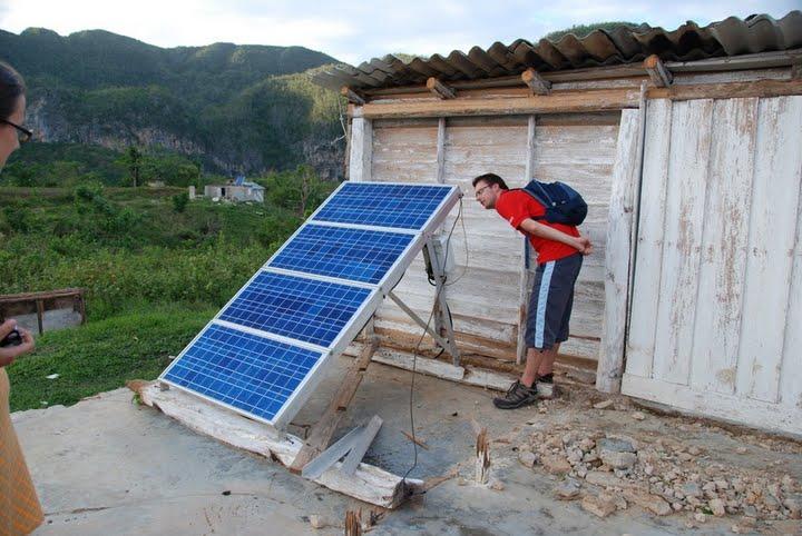 Solar panel located in a farm in western Pinar del Rio province