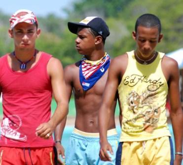 High School students enjoying their last days of summer.  Photo: Caridad
