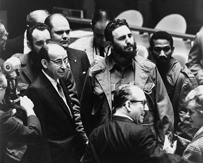 Fidel Castro at the UN General Assembly in 1960, photo: Wikimedia Commons
